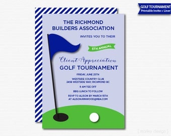 Company Golf Tournament Invitation Printable Golf Invitation Client Appreciation Digital Staff Appreciation Family Golf Company Invitation