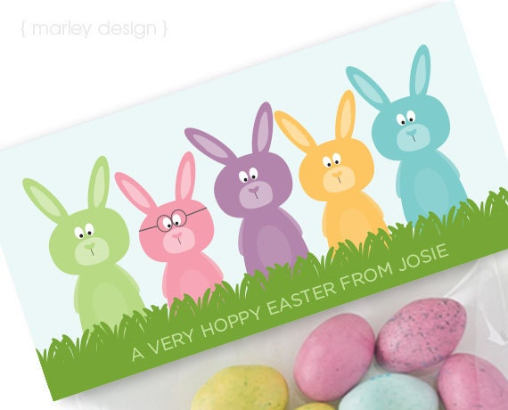 Easter treat bag toppers printable personalized easter goodie like this item negle Image collections