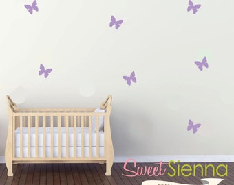 butterfly wall decals,butterfly decal, butterfly wall sticker, nursery wall decal, wall decals, wall stickers, vinyl wall decal stickersx40
