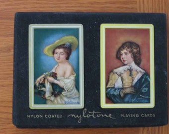 SALE Vintage Playing Cards Nylotone