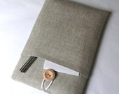 17 inch Laptop Case MacBook Sleeve Computer Case Asus Acer Toshiba Laptop Padded SleeveSUPERIOR Shock Absorbent Foam Padding Grey Linen