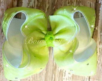 Lime Sparkle Bow
