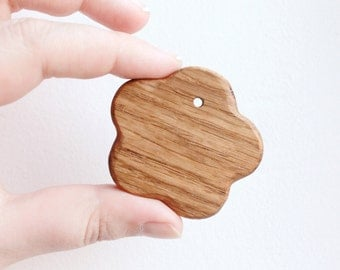 Flower-pendants. Set of 5 pendants - teethers - natural, eco friendly - made from OAK