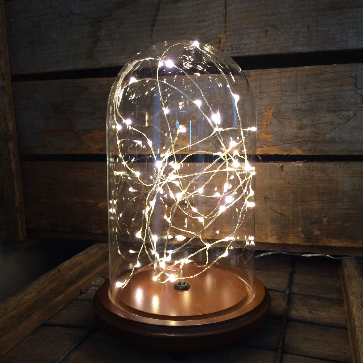 starry night snow globe glass dome accent lamp by stonehill. Black Bedroom Furniture Sets. Home Design Ideas
