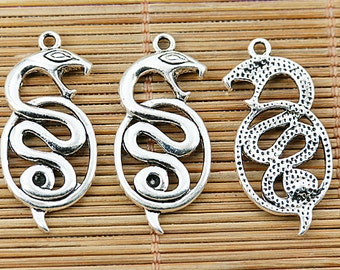 20pcs tibetan silver color snake design charms EF1445