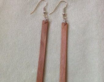 Wood Earrings/  Matchstick Earrings/ Birch/ Natural Wood