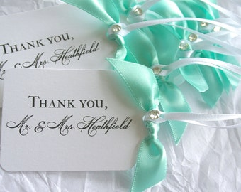 Personalized Tags, Wedding Favors, Thank you Wedding Tags