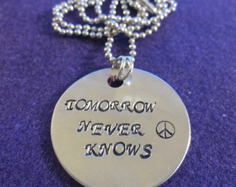 "Beatles ""Tomorrow Never Knows"" necklace"
