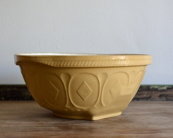 Vintage Easimix Mixing Bowl TG Green and Co Made in England. Ceramic Primitive Mixing Bowl. Rustic Vintage Kitchen Cottage Home Decor