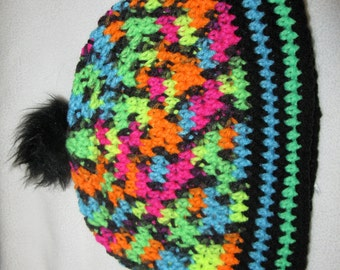 OOAK Neon Colors Hat