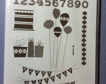 Stampin Up 'Patterned Party' rubber stamps