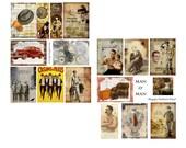 Man O Man digital Collage set