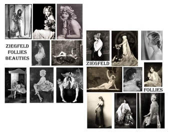 Ziegfield Follies Girls Digital Collage Set