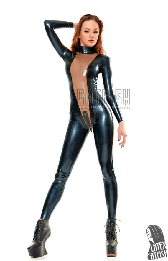 In Latex Catsuits 115