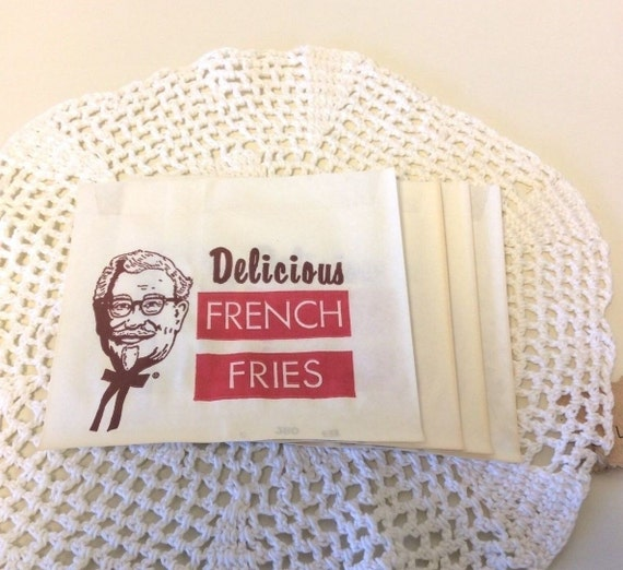 Items similar to kentucky fried chicken french fry bags - Kentucky french chicken ...