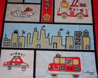 Fireman/Rescuers Fabric Panel