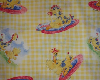 Yellow Gingham Suzy Zoo Fabric by the Half Yard