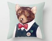 Tasmanian Devil THROW PILLOW, Stuffed Cushion, Decorative Pillow