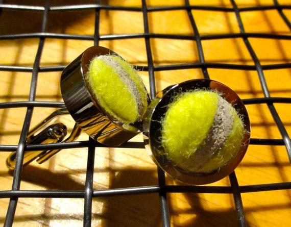 Tennis Cufflinks - Real Tennis Ball Cufflinks for Men or Women - Sport Cufflinks - Sports Jewelry - Doctor Gift
