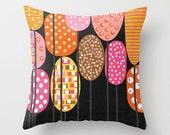 Autumn Woods Throw Pillow - Modern Art Pillow - Modern Decor - Throw Pillow - Hipster Decor - Urban Decor - by Beverly LeFevre