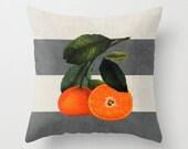 Botanical Stripes 6 Gray Throw Pillow - Geometric Pillow - Modern Decor - Throw Pillow - Urban Decor - by Beverly LeFevre