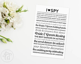 Wedding I Spy Printable - DIY - INSTANT Download