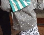 BABY LEGGINGS / White Animal / Unisex / screen printed organic cotton jersey