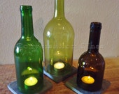 Wine Bottle Candle Holders Tea Light Hurricane Lamps Lanterns Centerpiece Large Quantities Available