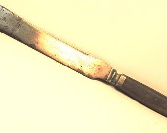 Antique Bread Knife Pewter Fittings Meriden Cutlery