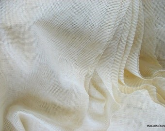 Poly Cotton Net Fabric for Bugs Net, Curtains etc..