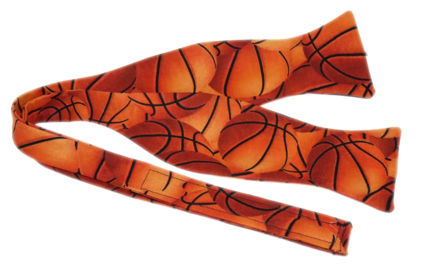 s basketball self tie bow tie velcro by amy2004marie