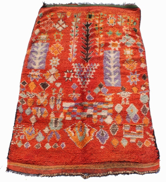 Items Similar To Vintage Moroccan Berber Chiadma Carpet On