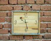Handmade Clock Wooden clock Recycled wood clock Rustic clock