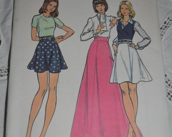 70s Butterick 6994  Misses Skirt Sewing Pattern - UNCUT  Size 24 or  Size 26 1/2