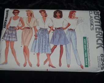 BUtterick 6249 Misses  Pants Shorts and Skirt Sewing Pattern - UNCUT Sizes P - XL