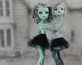 Black tutu petticoat hand made fits Monster High doll