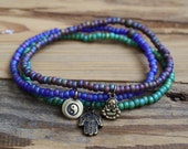 anklet ankle bracelet butterfly tree of life lotus jewelry beaded bracelet seed beads hamsa beads broken gypsy