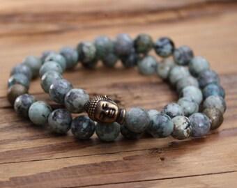 turquoise bracelet buddha bracelet yoga jewelry bracelet beaded bracelet gifts Mother's Day gift buddha beads