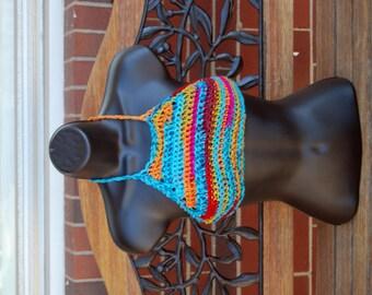 Kalediscope Hippie Crochet  Festival Top