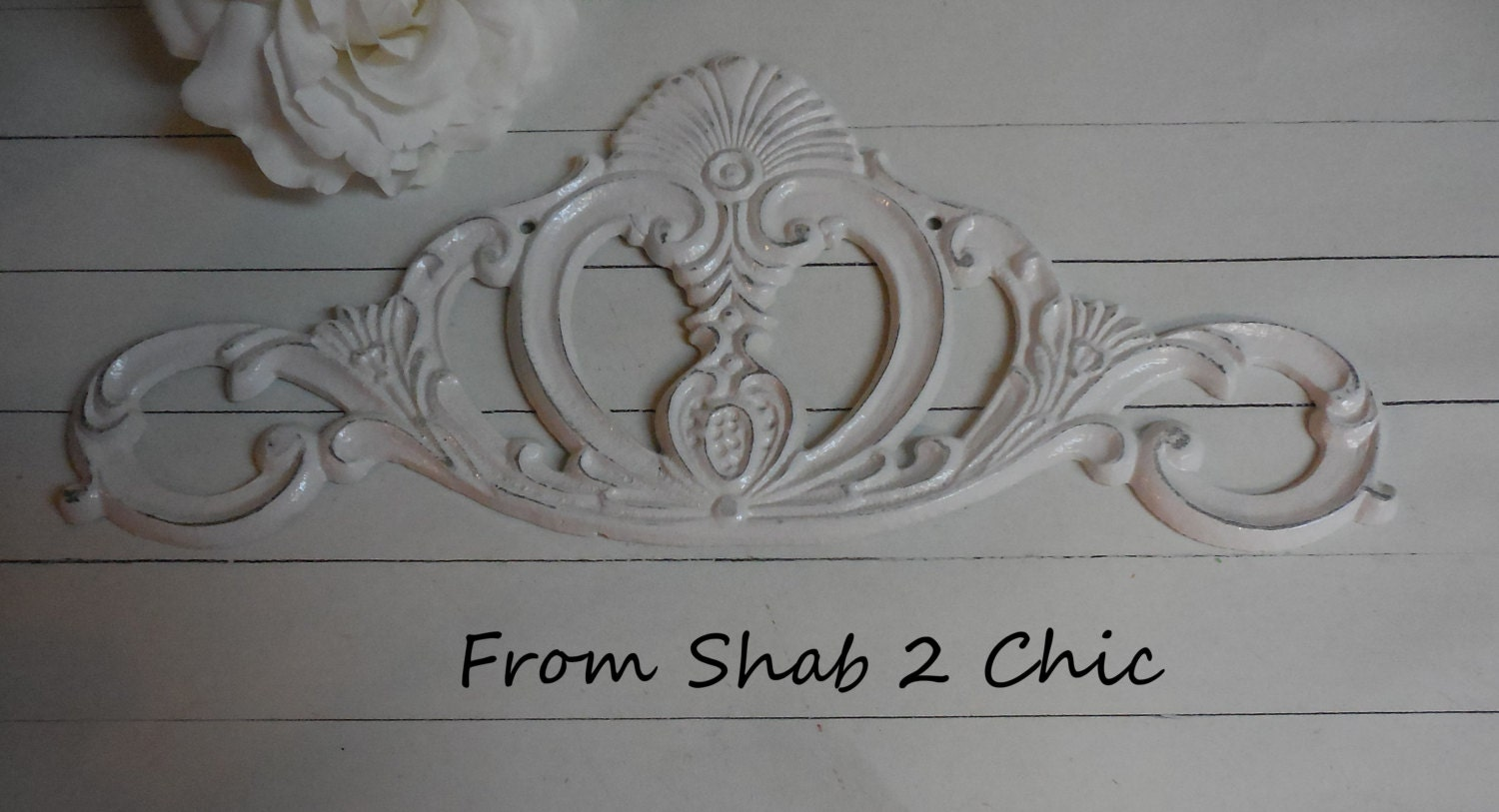 White cast iron wall decor wall art scroll design for Decorative scrollwork