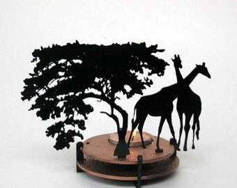 Tea Light Candle Holder - Giraffe in Africa