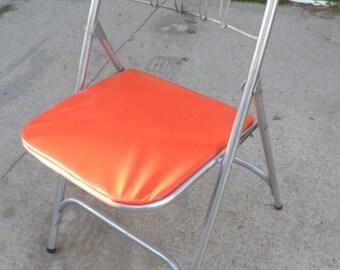1960s Mod Aluminum Folding Chair
