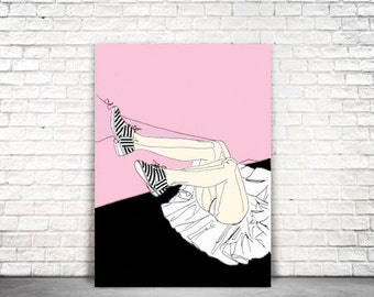Fashion Fall Ink Illustration Poster
