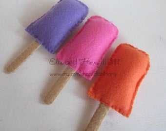 Felt Popsicles - Set of Three