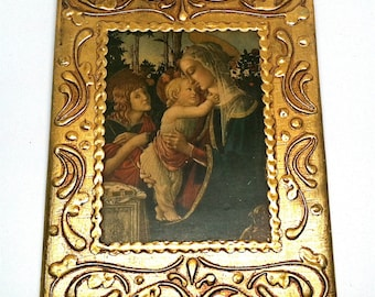 Florentia Framed Religious Icons Madonna Child Italy