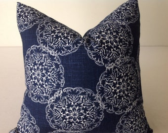 Blue Pillow, Blue Pillow Cover, Decorative Throw Pillow,  Accent pillow  Designer Pillow, Navy Blue Pillow