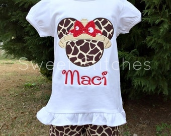 Safari Minnie Mouse (White/Red)