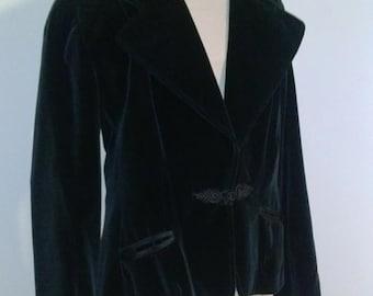 Vintage Clothing Neiman Marcus Velvet Jacket Blazer Black Size Small