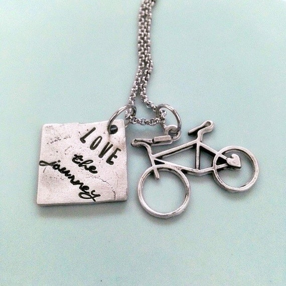 Enjoy the journey necklace personalized jewelry for bike for Ride or die jewelry