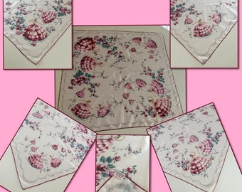 Lovely Vintage Novelty Print Scarf~1950's~Dancing Girls in Gowns